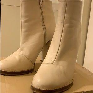 White Zara Booties